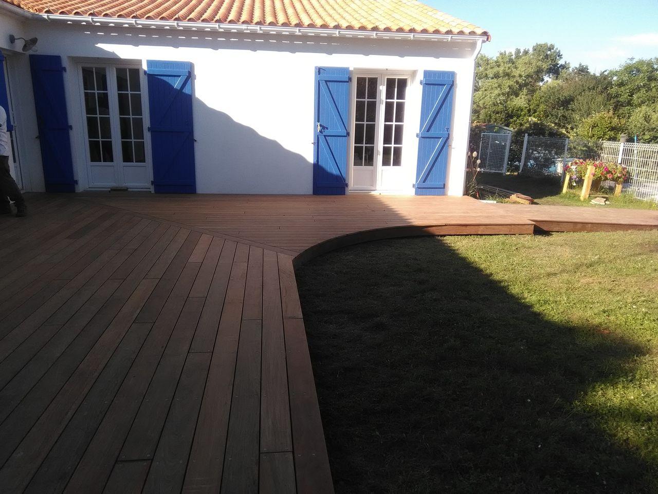 terrasse ipé à grues en vendée - autour du bois concept